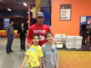 This is a picture of my brother Ryan and I meeting Doug Flutie at an event through the Doug Flutie Jr. Foundation at Skyzone in Westboro, Massachusetts.