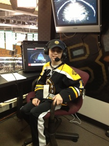 Sitting in Andy Brickley's NESN seat