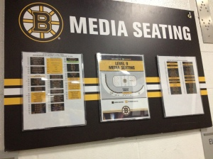 Media Seating Chart