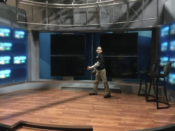 Me on the stage of the old studio.