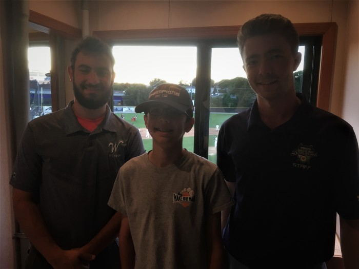 Andrew with announcers JR Suyemoto and Donny Porcaro